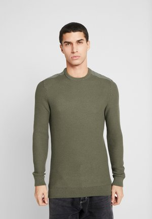 MUSCLE FIT MILITARY - Svetr - green