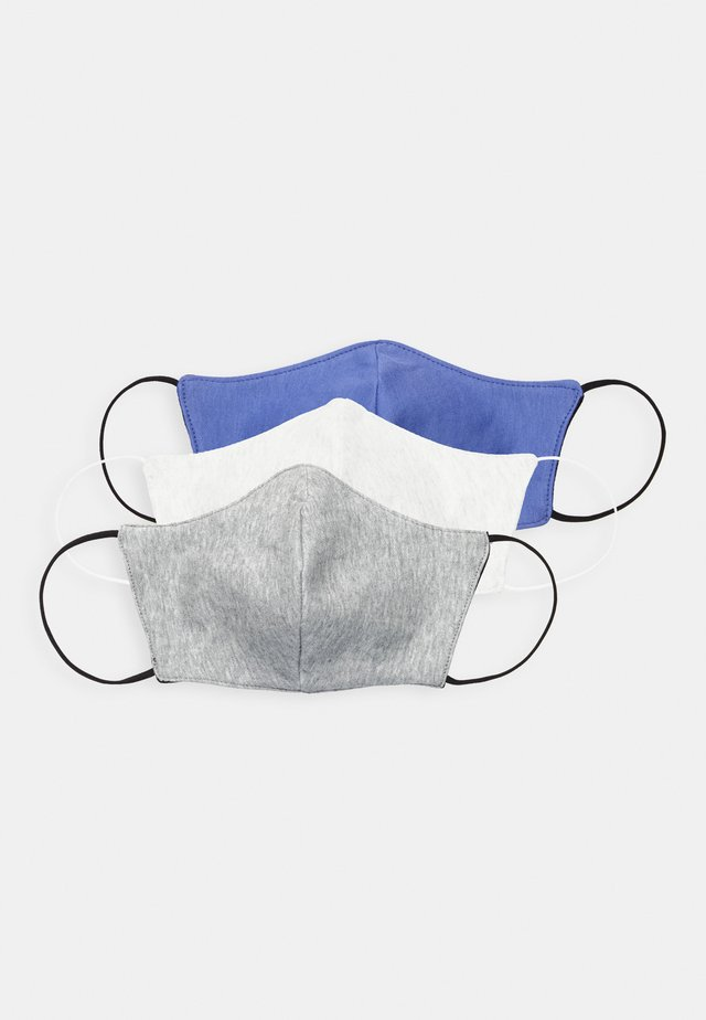 3 PACK - Tygmasker - dark blue/white/grey