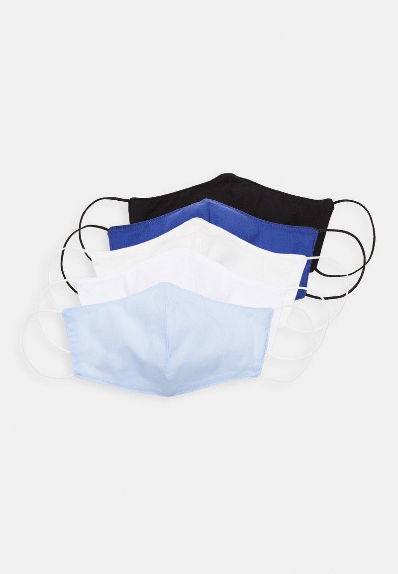 Zign - 5 PACK - Stoffen mondkapje - white/black/blue