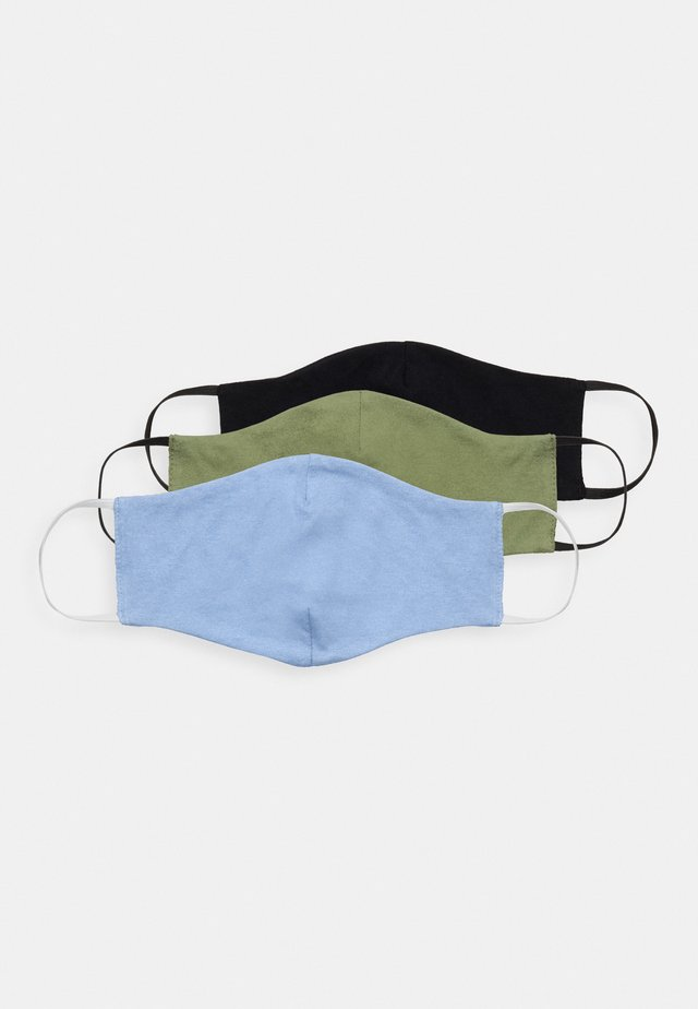 3 PACK - Stoffmaske - black/blue /green