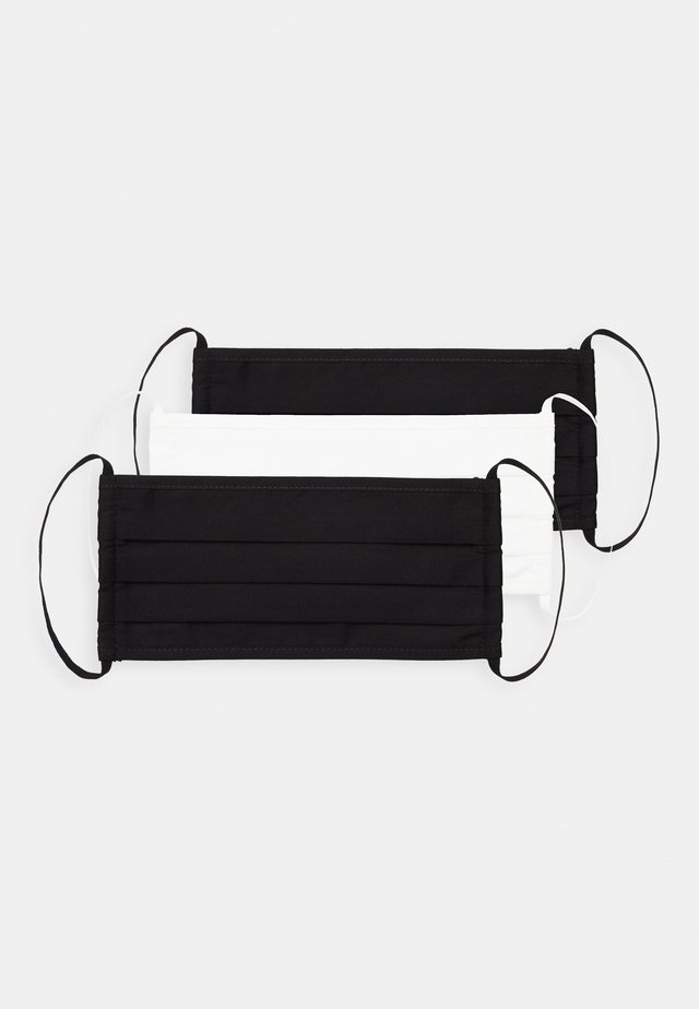 3 PACK - Munnbind i tøy - black/white