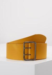 Zign - LEATHER - Waist belt - yellow - 0