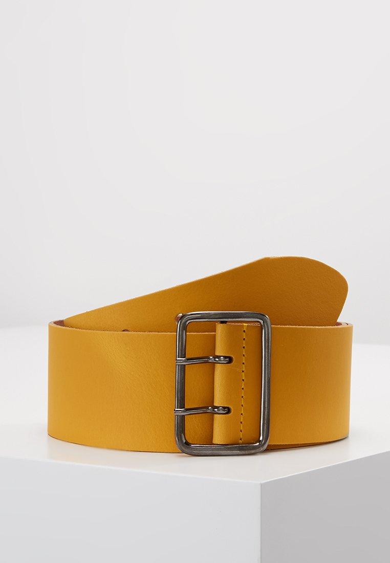 Zign - LEATHER - Ceinture taille haute - yellow