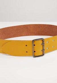 Zign - LEATHER - Waist belt - yellow - 4