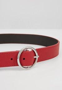 Zign - LEATHER - Belt - berry - 4