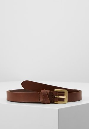 LEATHER - Ceinture - cognac