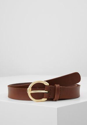 LEATHER  - Belt - cognac
