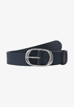 LEATHER - Pasek -  navy