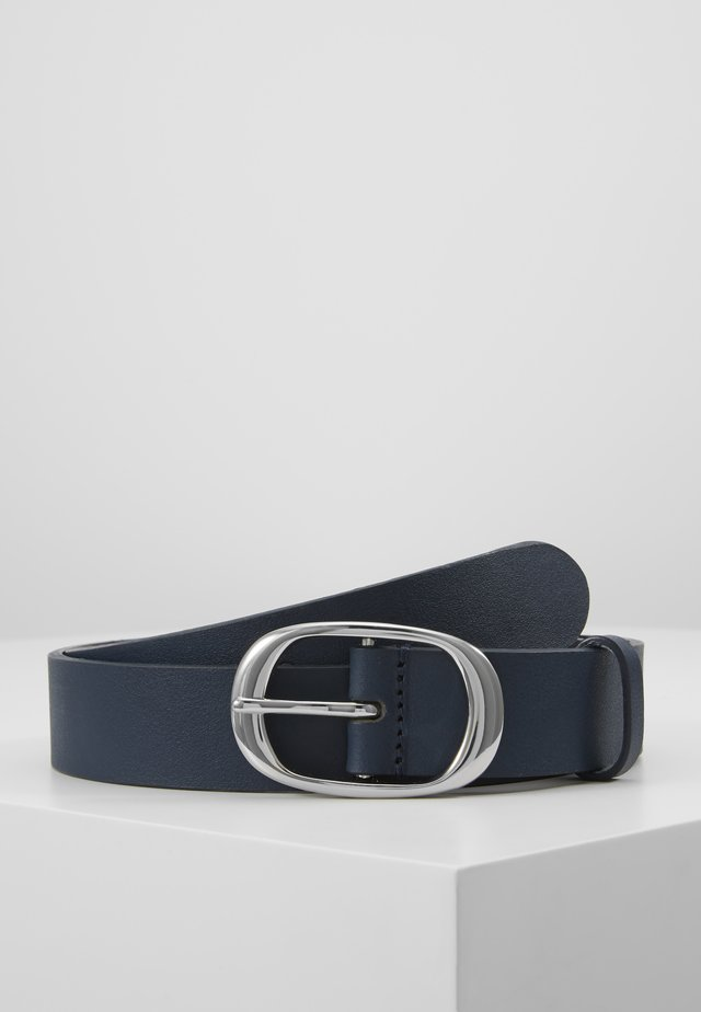 LEATHER - Ceinture -  navy