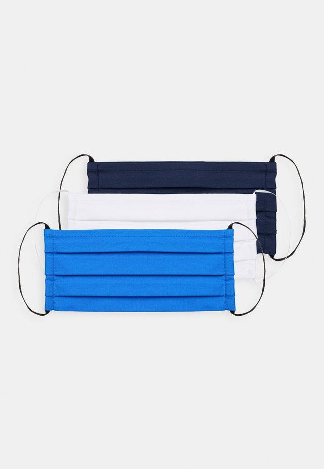 3 PACK - Stoffmaske - white/blue/dark blue