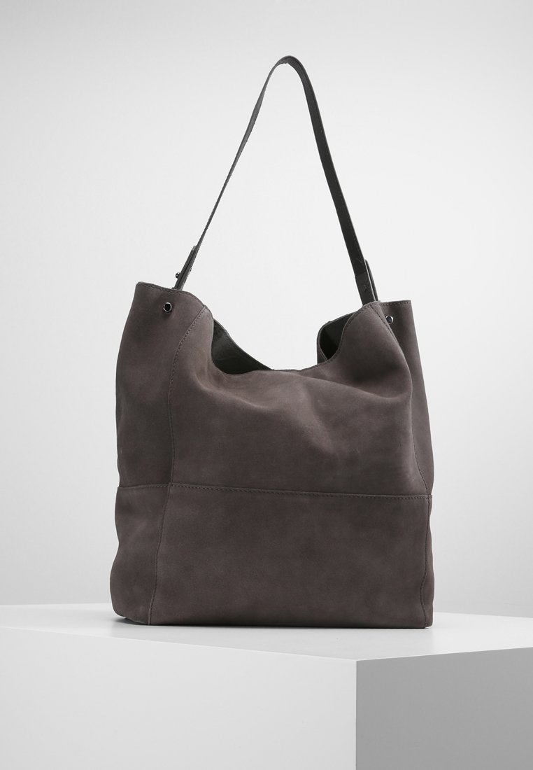 Zign - LEATHER - Shopping Bag - antracite