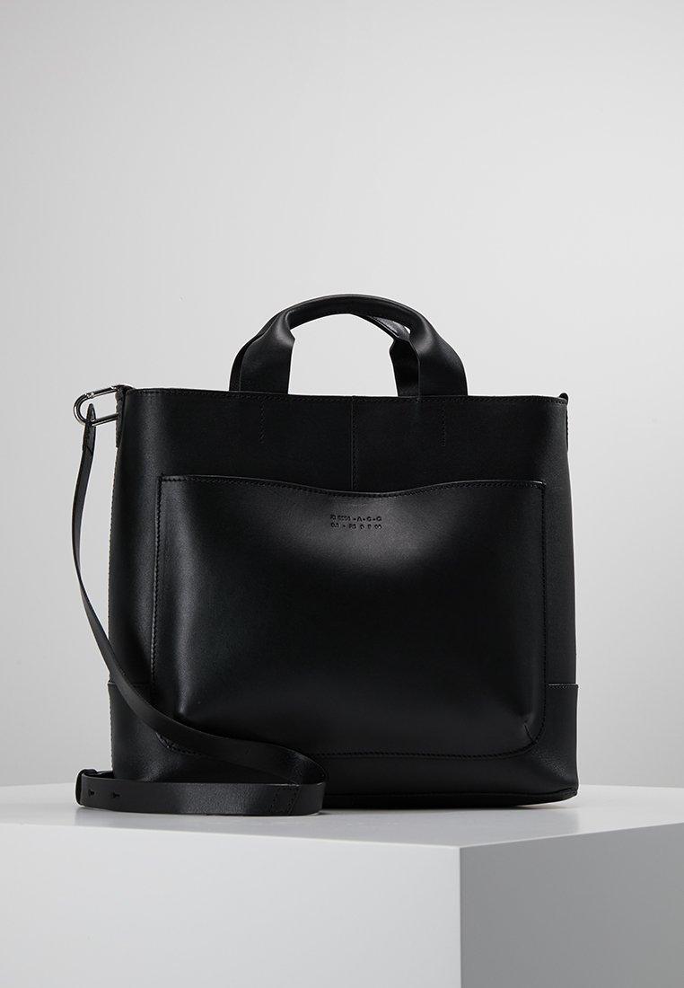 Zign - LEATHER - Handbag - black