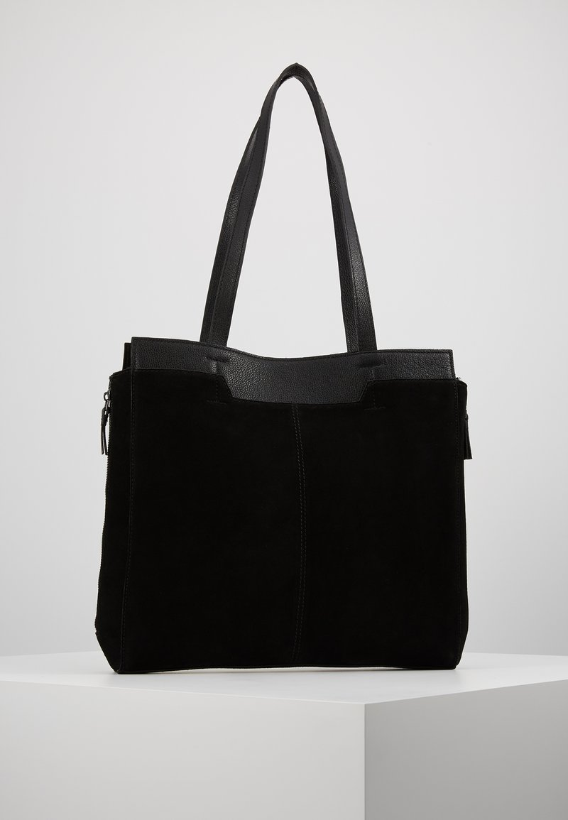 Zign - LEATHER - Shopping bags - black