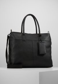Zign - LEATHER - Weekend bag - black - 0