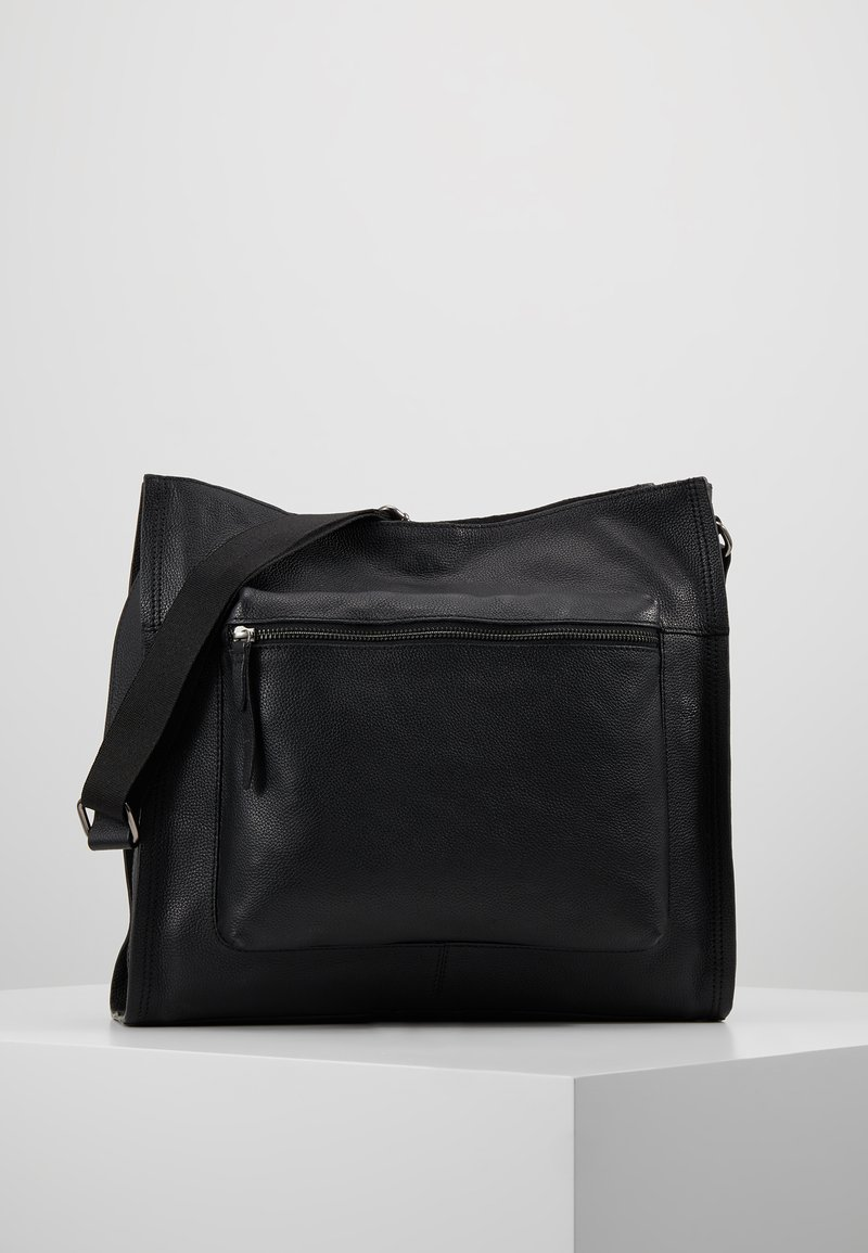 Zign - LEATHER - Bolso shopping - black