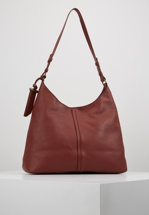 LEATHER - Handtasche - maroon