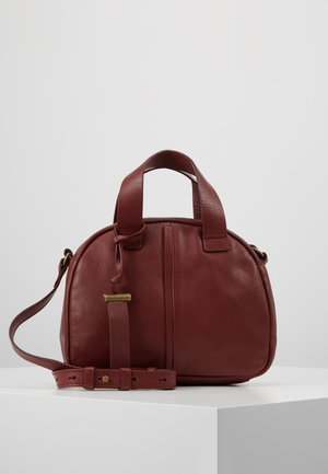 LEATHER - Handbag - maroon