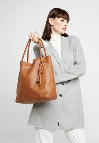 Zign - LEATHER - Handbag - cognac - 1