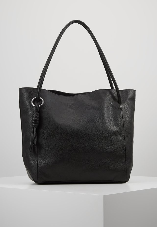 LEATHER - Handtasche - black