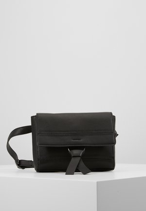 LEATHER - Sac banane - black