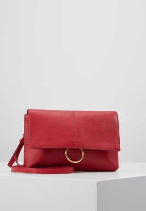 LEATHER - Schoudertas - berry