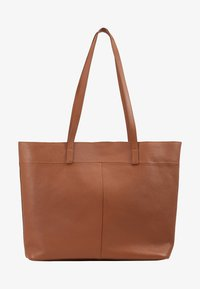 Zign - LEATHER - SHOPPING BAG / POUCH SET - Shopping bag - cognac - 5