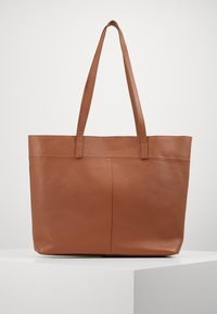 Zign - LEATHER - SHOPPING BAG / POUCH SET - Shopping bag - cognac - 0
