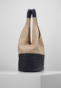 Zign - LEATHER/COTTON - Shopping bag - navy - 3