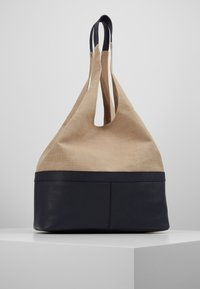 Zign - LEATHER/COTTON - Shopping bag - navy - 0