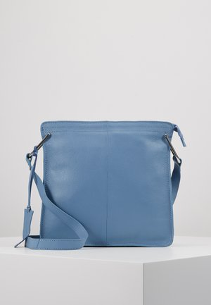 LEATHER - Schoudertas - sky blue