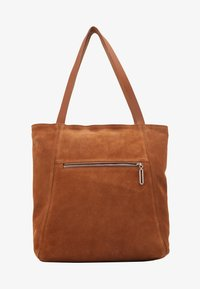 Zign - LEATHER - Shopping bag - cognac