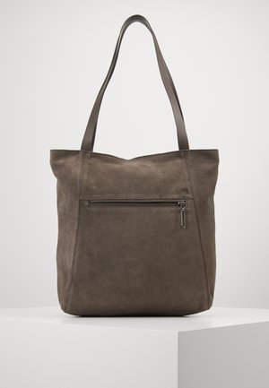 LEATHER - Bolso shopping - anthracite