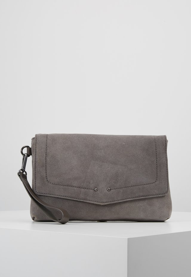 LEATHER - Clutch - anthracite