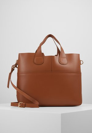 LEATHER - Shopping bag - cognac
