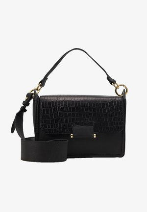 LEATHER  - Handbag - black