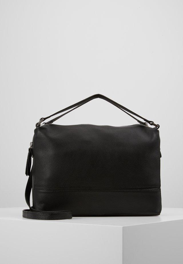 LEATHER - Handväska - black