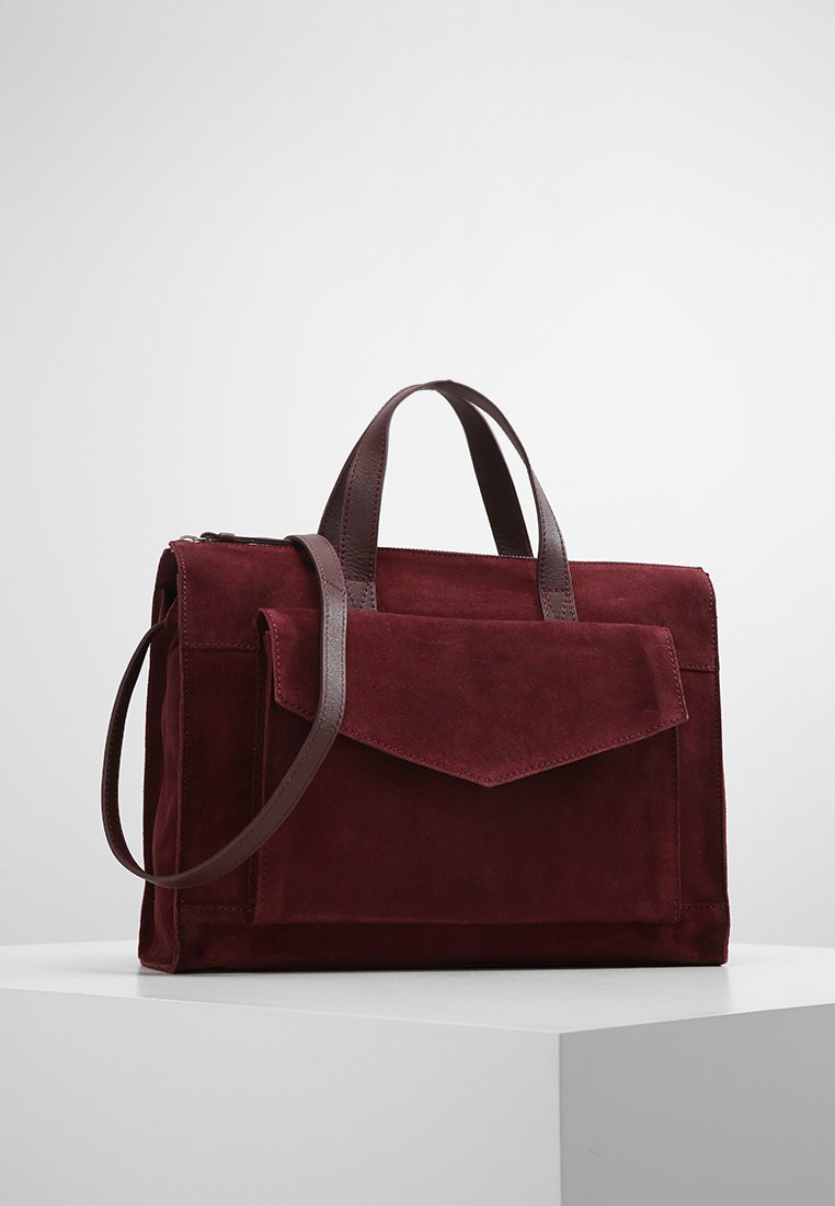 Zign - LEATHER - Sac à main - burgundy