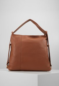 Zign - LEATHER SHOULDER BAG / BACKPACK - Rugzak - cognac - 3