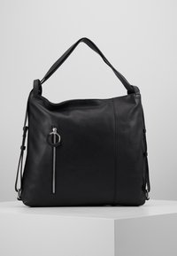 Zign - LEATHER SHOULDER BAG / BACKPACK - Batoh - black - 6