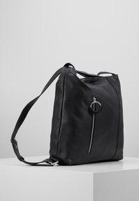 Zign - LEATHER SHOULDER BAG / BACKPACK - Batoh - black - 4