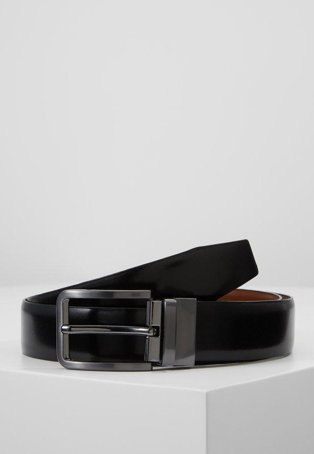 LEATHER - Belt - brown/black
