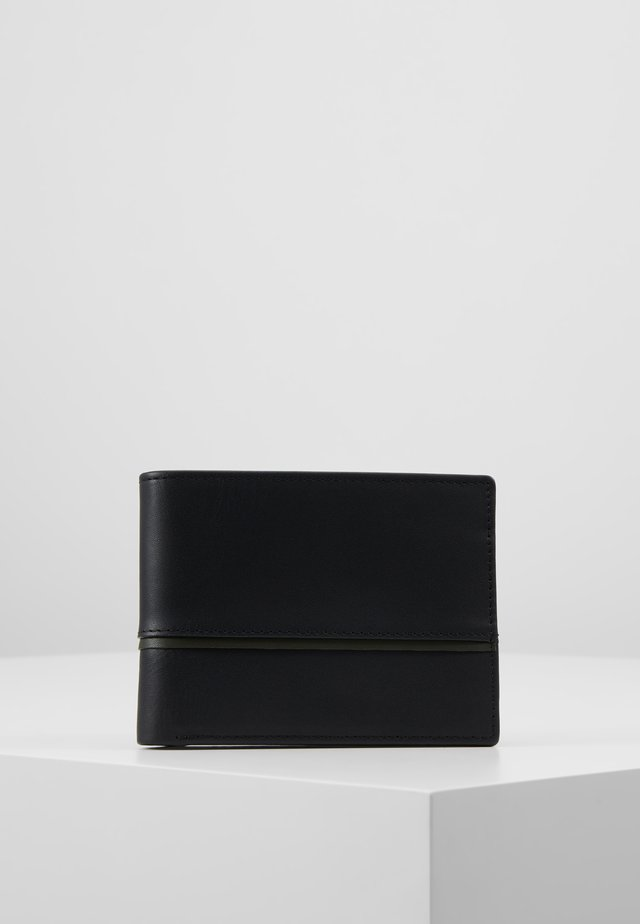 LEATHER - Wallet - olive/black