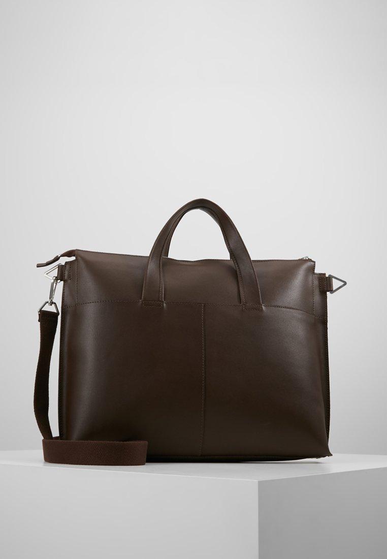 Zign - LEATHER - Laptop bag - ark brown