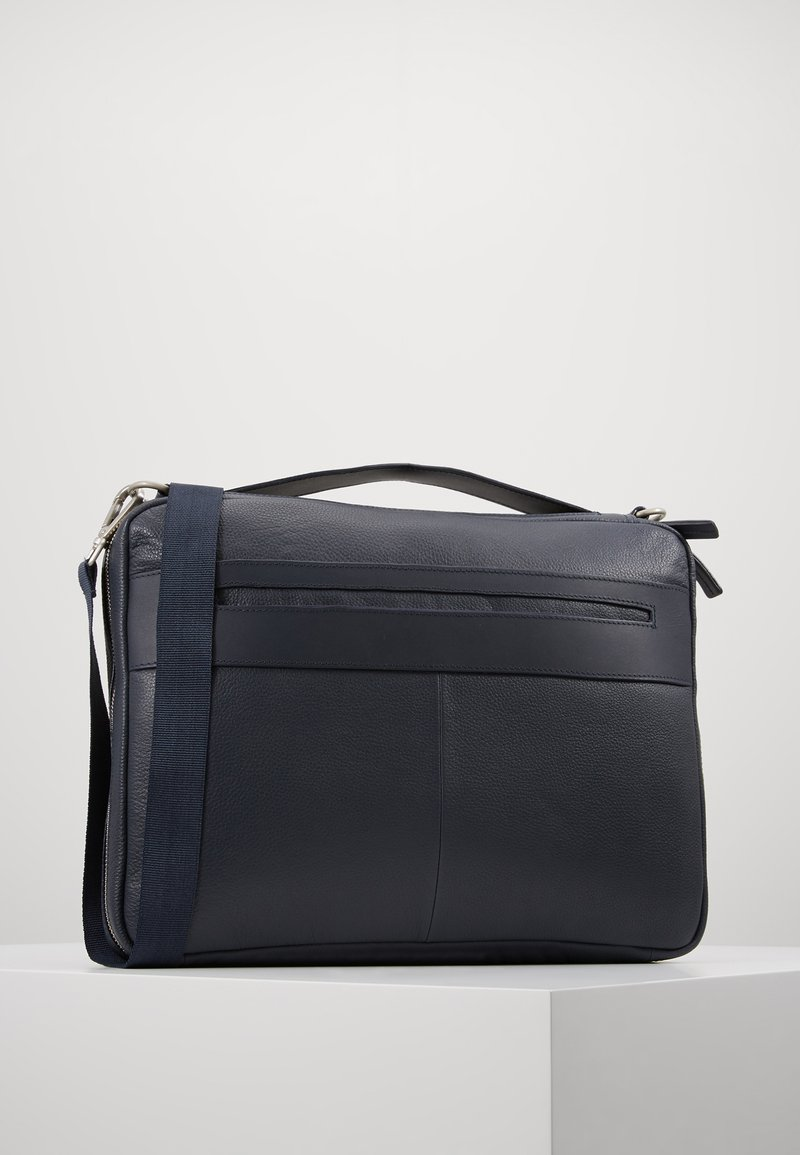 Zign - LEATHER - Taška na laptop -  blue/dark ocean
