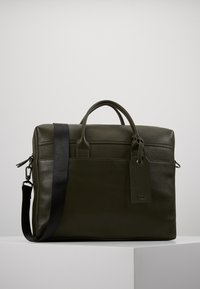 Zign - LEATHER - Aktovka - dark green - 0