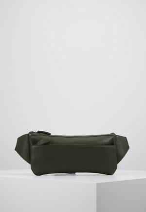 LEATHER - Bältesväska - oliv/black