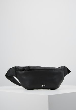 ZENO-LEATHER - Saszetka nerka - black
