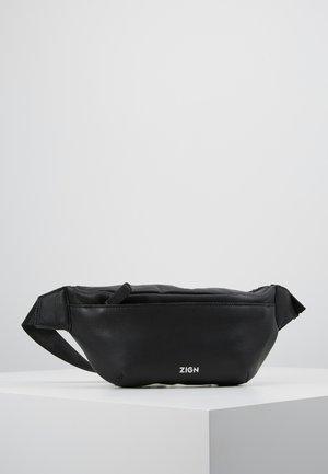 ZENO-LEATHER - Riñonera - black