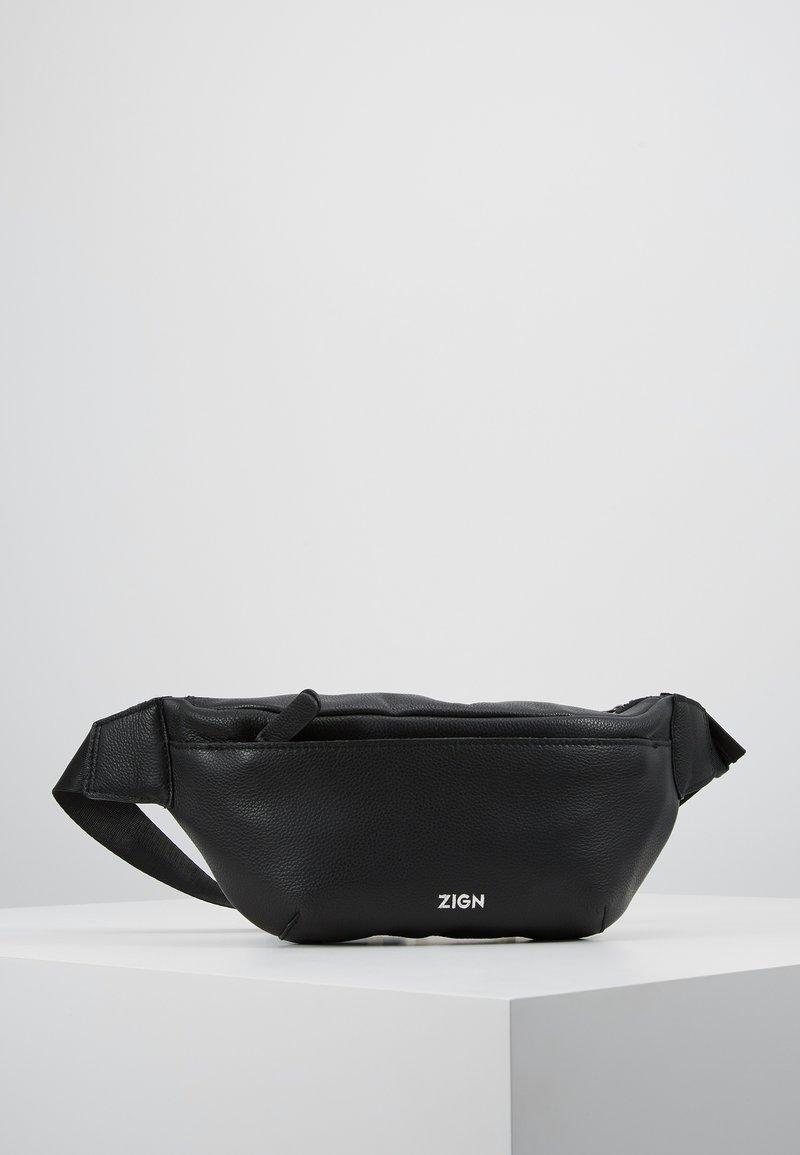 Zign - ZENO-LEATHER - Ledvinka - black