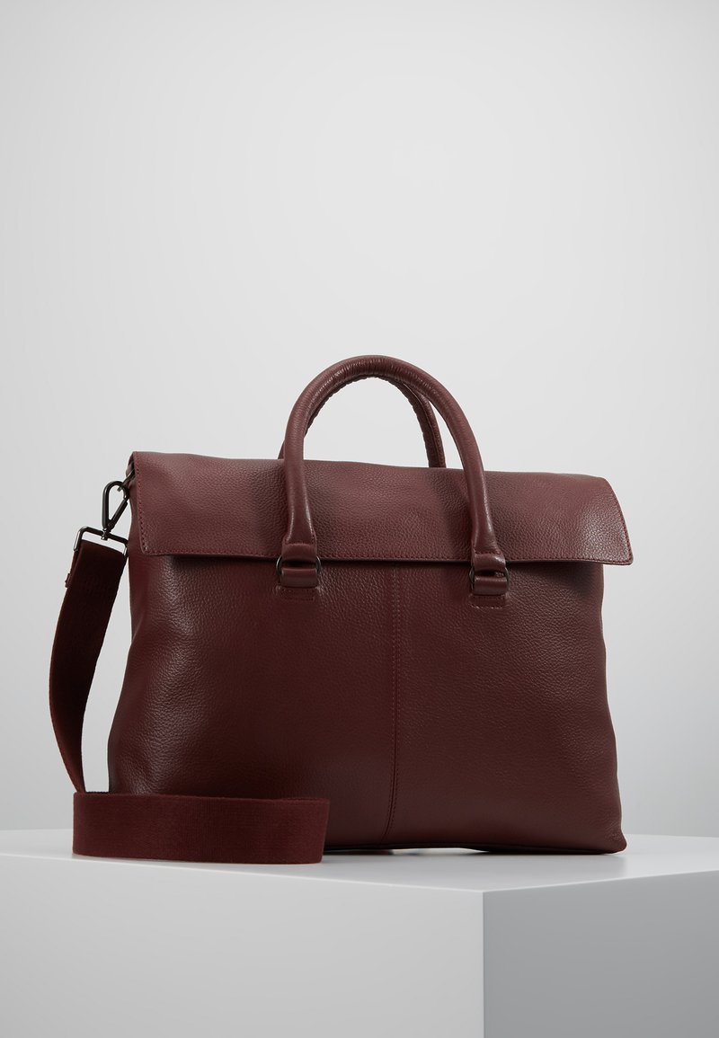 Zign - LEATHER UNISEX - Portfölj - bordeaux
